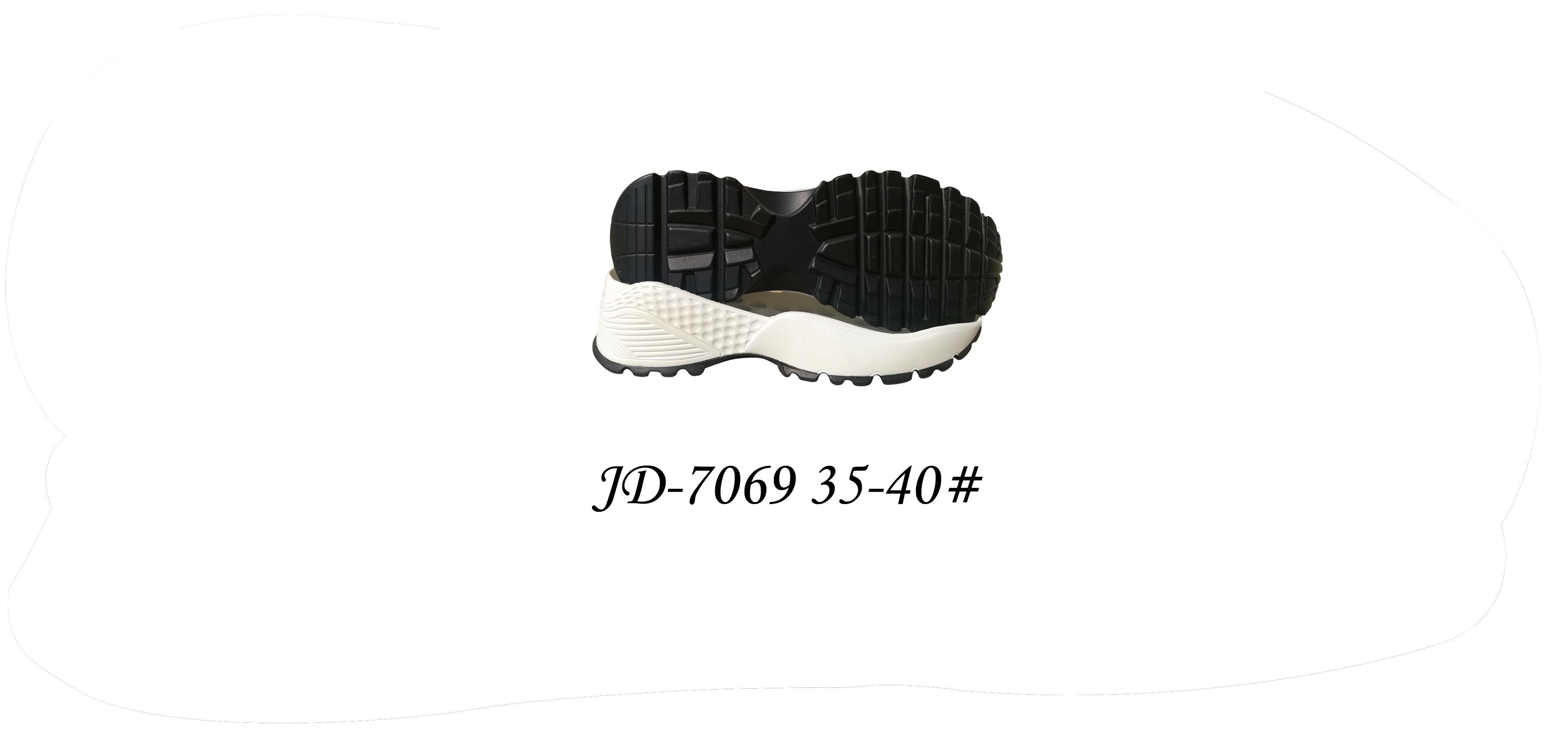 鞋底 PU 女段 休闲鞋 双色 35-40# 一体 JD-7069