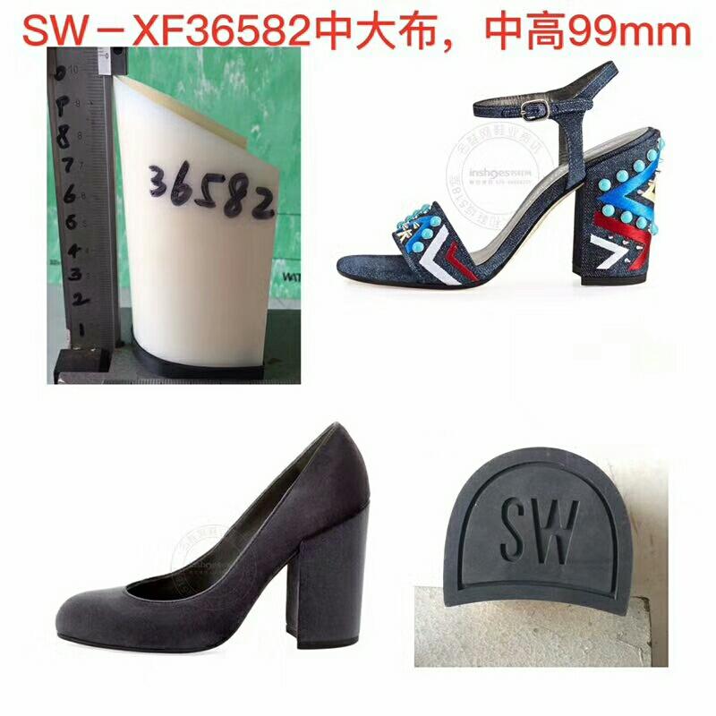 鞋底 ABS 小码,中码,大码 时装女鞋 单色 一体 ABS鞋跟