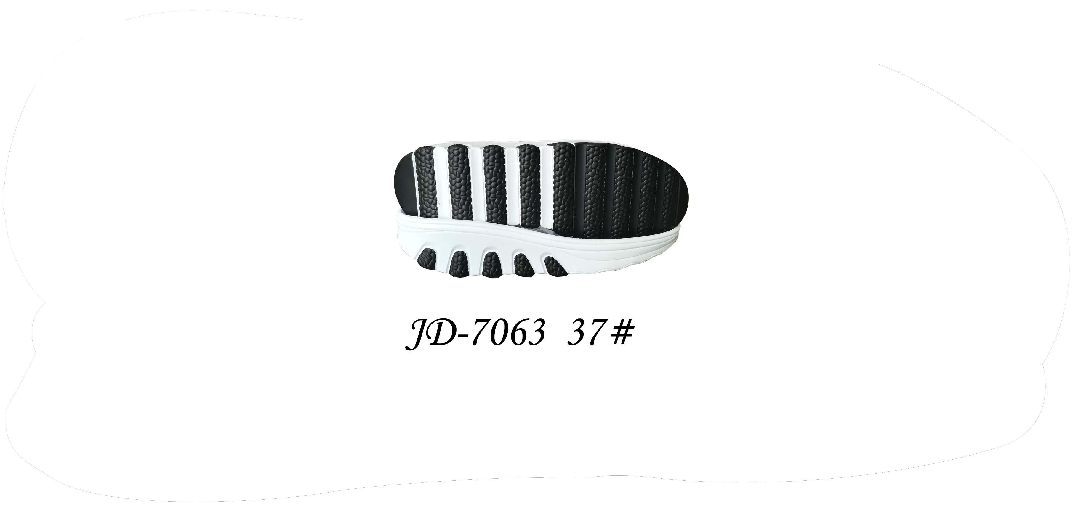 鞋底 PU 女段 休闲鞋 三色 双色 37 一体 JD-7063